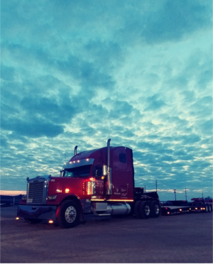 Truck at dusk